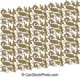 Wallpaper bronze pattern in the style of Baroque. Seamless vector background.