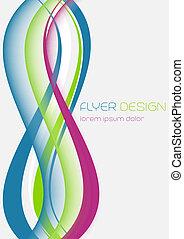 Wallpaper design, flyer template - Business flyer template, ...