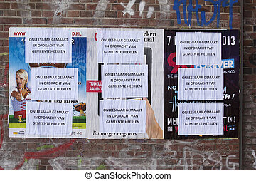 Wallpaper distortion - The city of Heerlen is destroing the...