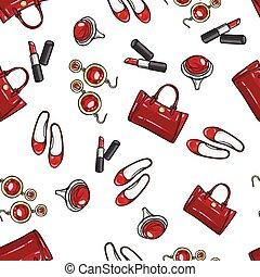 Wallpaper Earing, Ring, Sack, Shoes, Lipstick
