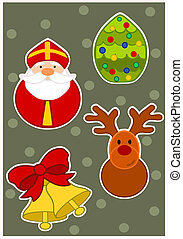 Wallpaper for christmas time - vector illustration.