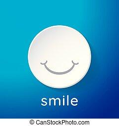 wallpaper., illustration., smiley enfrentam, vetorial, branca, icon., 3d
