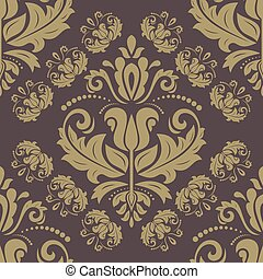 Wallpaper in the style of Baroquen. Abstract Vector...