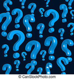 question marks - wallpaper of blue question marks
