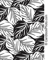 Wallpaper of seamless vector leaves