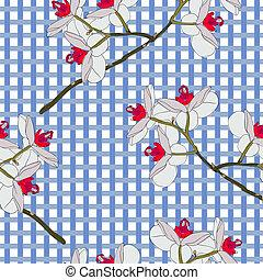 wallpaper., orchidea, flowers., seamless