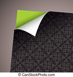 Wallpaper paper curl modern
