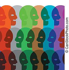 wallpaper pattern of heads
