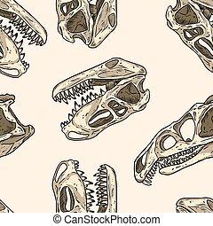 wallpaper., seamless, prestosuchus, totenschädel, trex, ...
