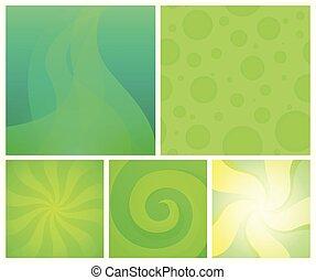 wallpaper., set, kleurrijke, achtergronden, abstract, -, element, helder, vector, ontwerp