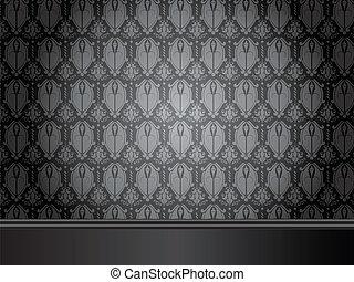 wallpaper., stanza, pavimento, vendemmia, seamless, legno