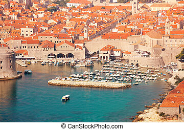 Walls and port of Dubrovnik