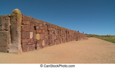 Walls Around Kalassaya Temple, Tiwanaku, Bolivia - Medium...