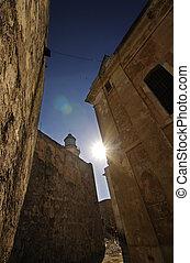 Walls from El Morro fortress in Havana