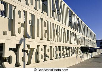 Walls of a school