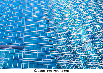 Walls of a skyscraper - abstract urban background