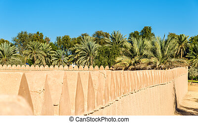 Walls of Al Jahili Fort in Al Ain, UAE