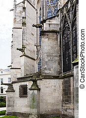 walls of Basilica of Saint Urban of Troyes