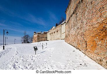 Walls of Brasov Citadel, Transylvania, Romania
