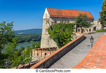 Walls of Bratislava Castle - Slovakia