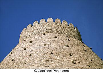 Medieval walls of Bukhara, Uzbekistan, town on a Silk Road