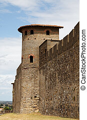 Walls of Carcassonne-detail