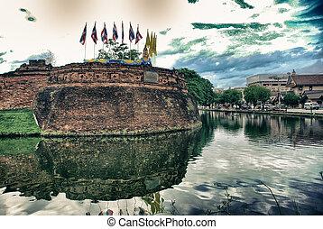 Walls of Chiang Mai, Thailand
