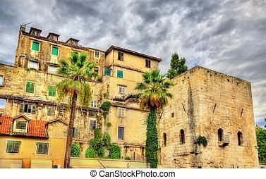 Walls of Diocletian's Palace in Split - Croatia