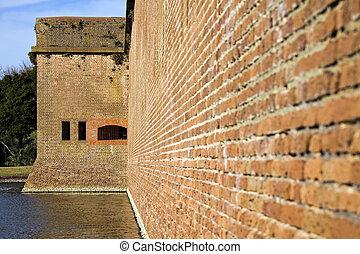 Walls of Fort Pulaski