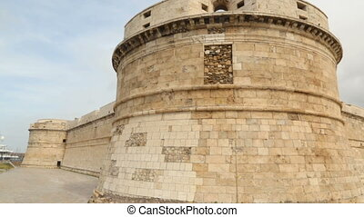 Walls of fortress, Italy