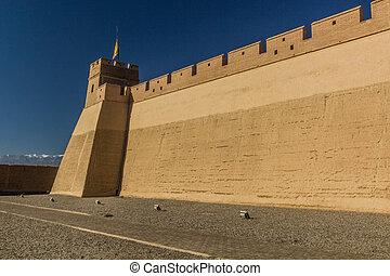 Walls of Jiayuguan Fort, Gansu Province, Chi