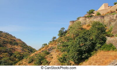 Walls of Kumbhalgarh fort in rajasthan India