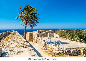 Walls of of Kyrenia Castle. Cyprus