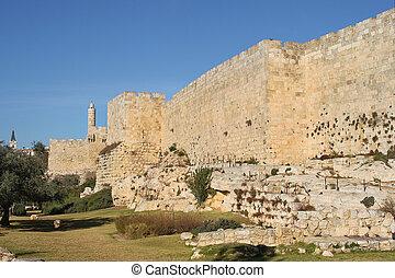 Walls of old Jerusalem.