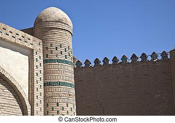 walls of the city in uzbekistan