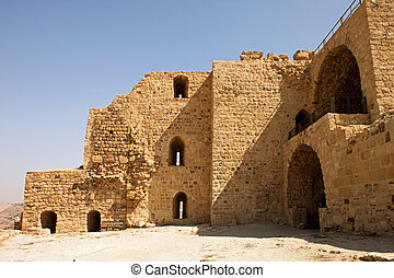 walls of the fortified town of Kerak