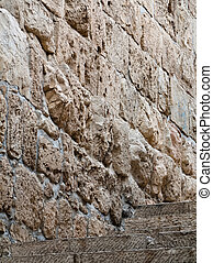Walls of the old city in Jerusalem Israel