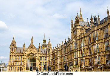 Walls of the Palace of Westminster in London