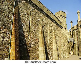 Walls of Vorontsov palace, Alupka, Crimea, Ukraine