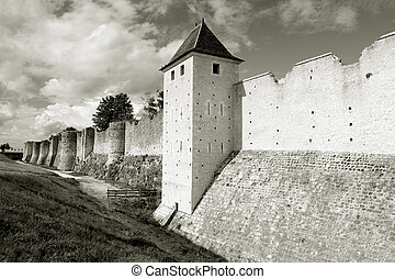Walls, Provins, Ille de France, France