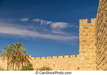 Walls surrounding Jerusalem old town