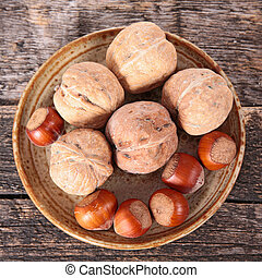 walnut and hazelnut