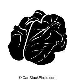 Walnut black color icon .