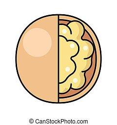 walnut line flat icon