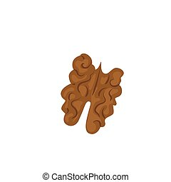 Walnut vector icon isolated on white background
