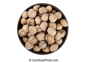 walnuts in the dish