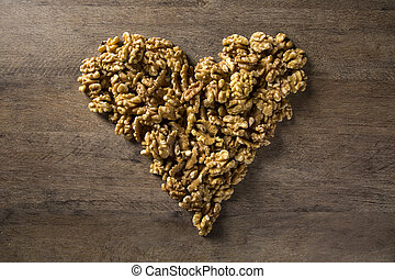 walnuts in the form of a heart