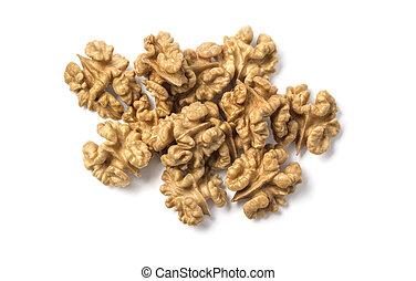 Walnuts kernel isolated