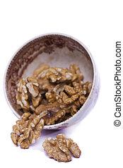 walnuts on a bowl