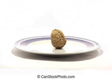 walnuts on a plate